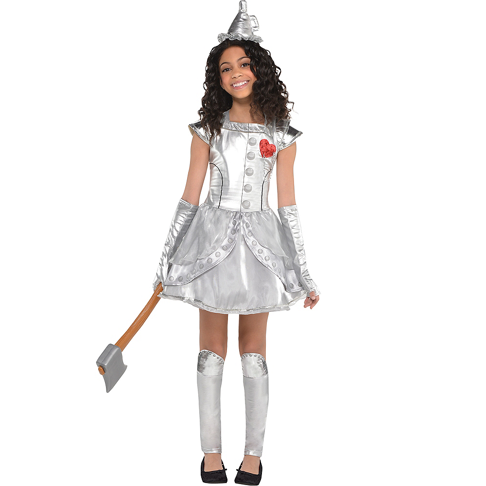 f73e42c55c548 Girls Tin Man Costume - Wizard of Oz Image  1 ...