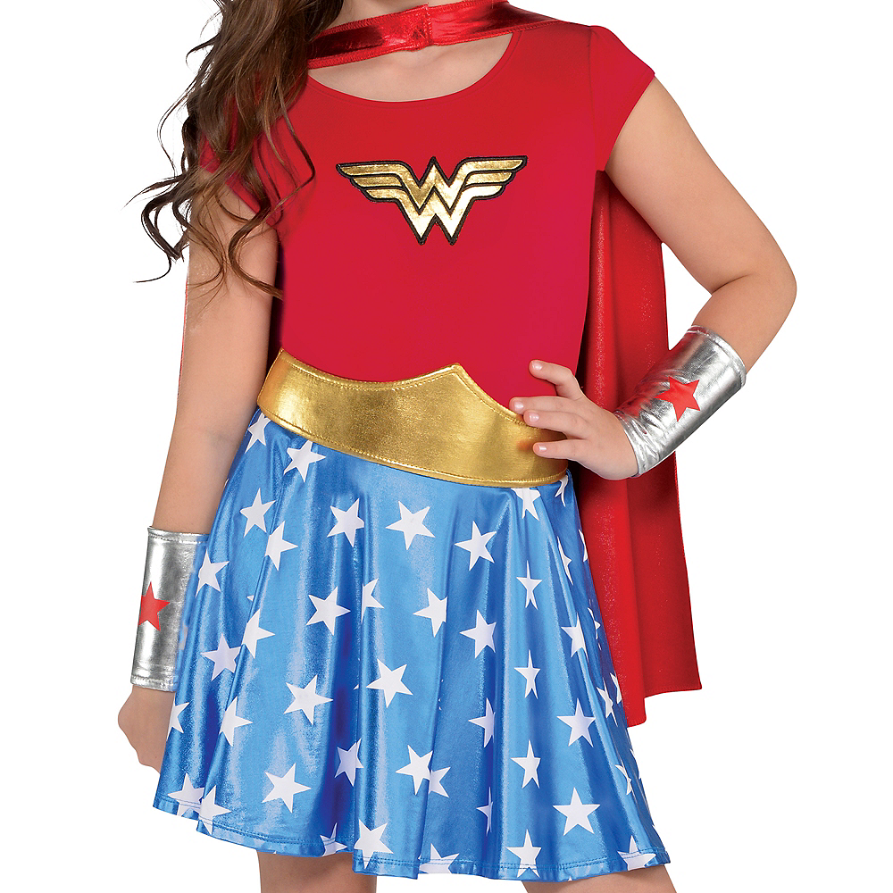 Nav Item for Girls Wonder Woman Costume Image #3