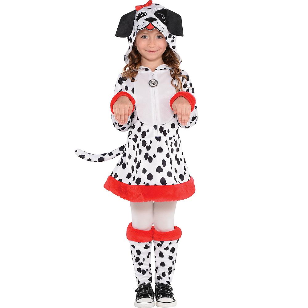 CHILD DALMATIAN COSTUME USED SIZE MEDIUM
