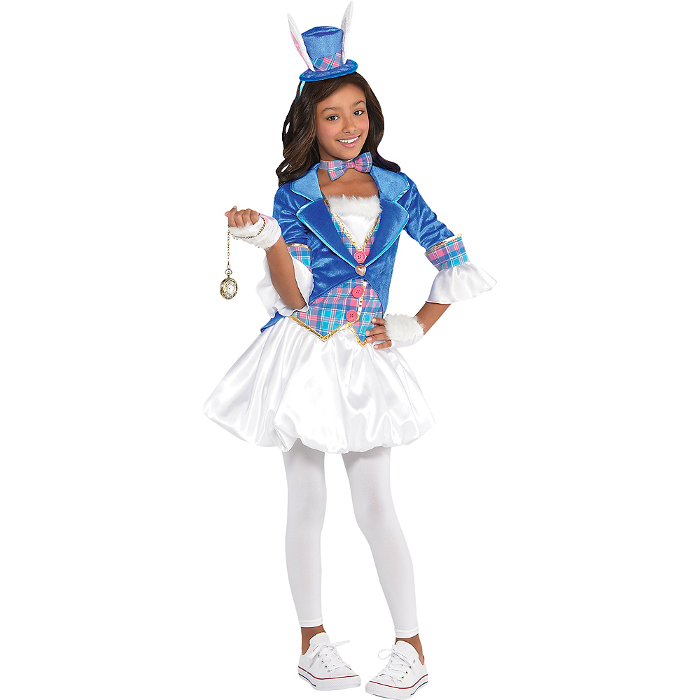 Girls White Rabbit Costume Image #1