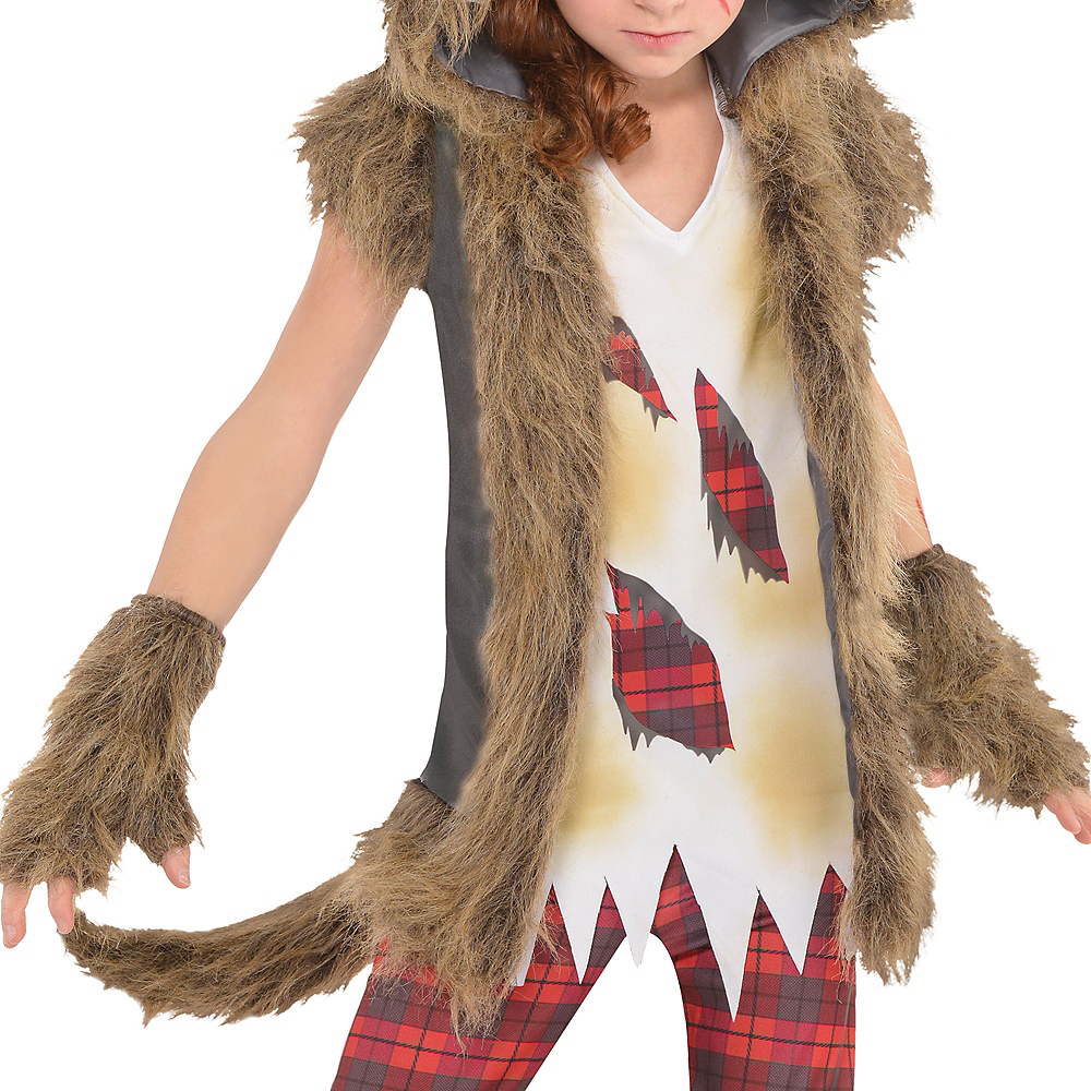 Girls Brown Werewolf Costume Image #3