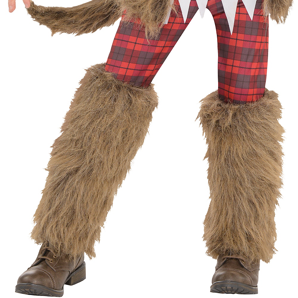 Girls Brown Werewolf Costume Image #4