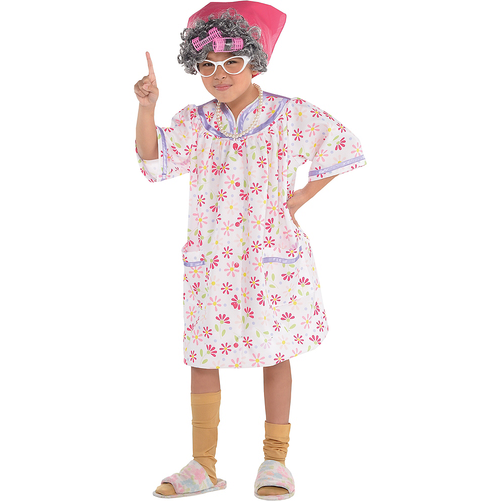 Girls Little Old Lady Costume Image #1