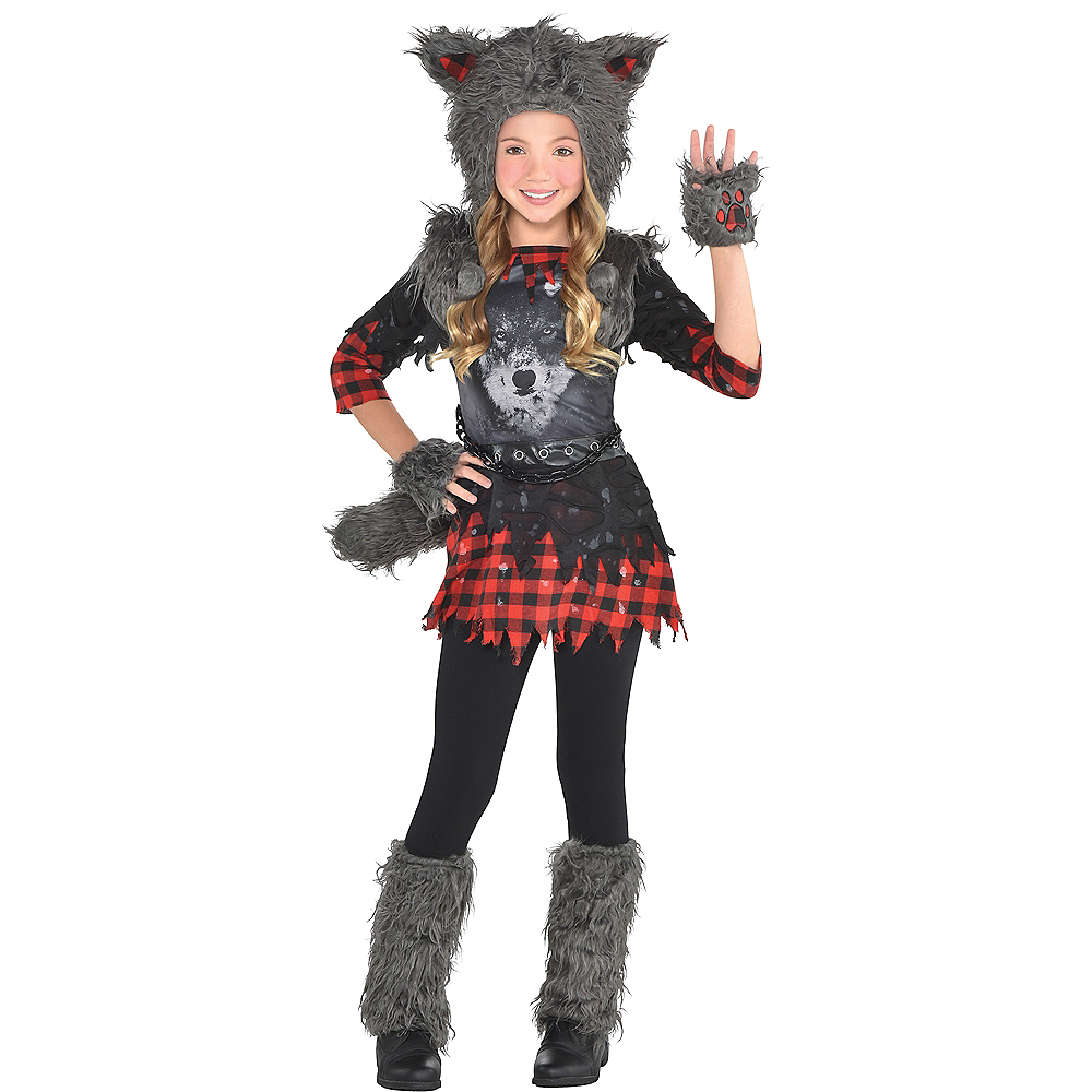 Nav Item for Girls She Wolf Costume Image #1
