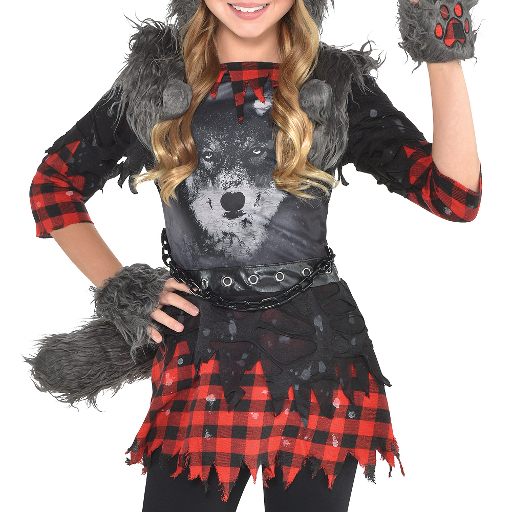Girls She Wolf Costume Image #3