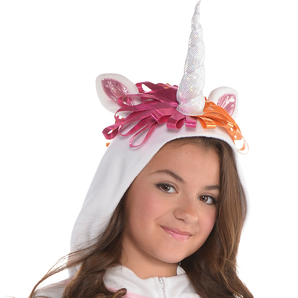 Girls Zipster Unicorn One Piece Costume Image #2