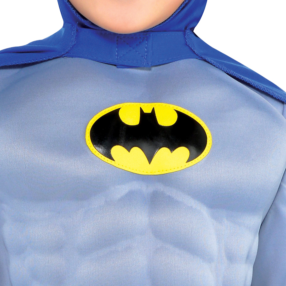 Boys Classic Batman Muscle Costume - The Brave & the Bold Image #3