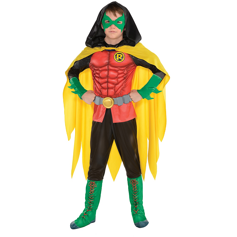 Boys Robin Muscle Costume - DC Comics New 52 Image #1