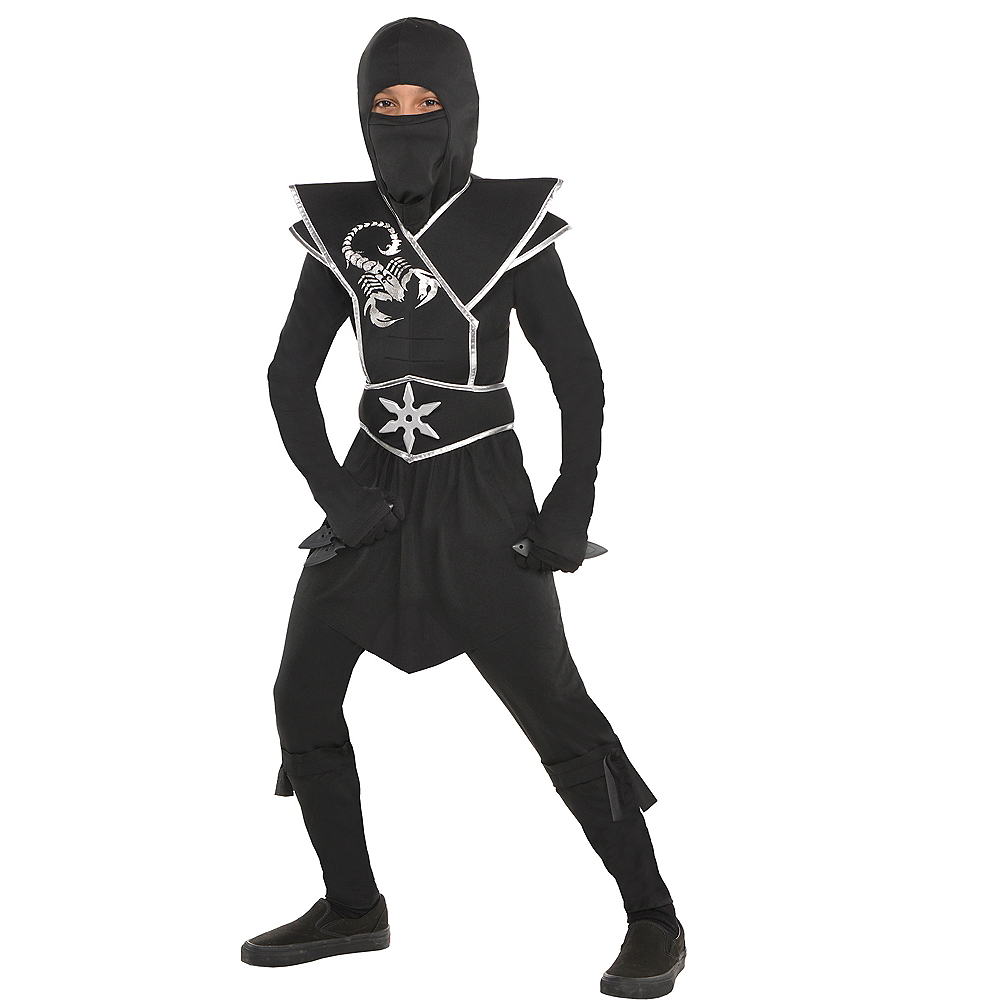 Boys Black Ops Ninja Costume Image #1