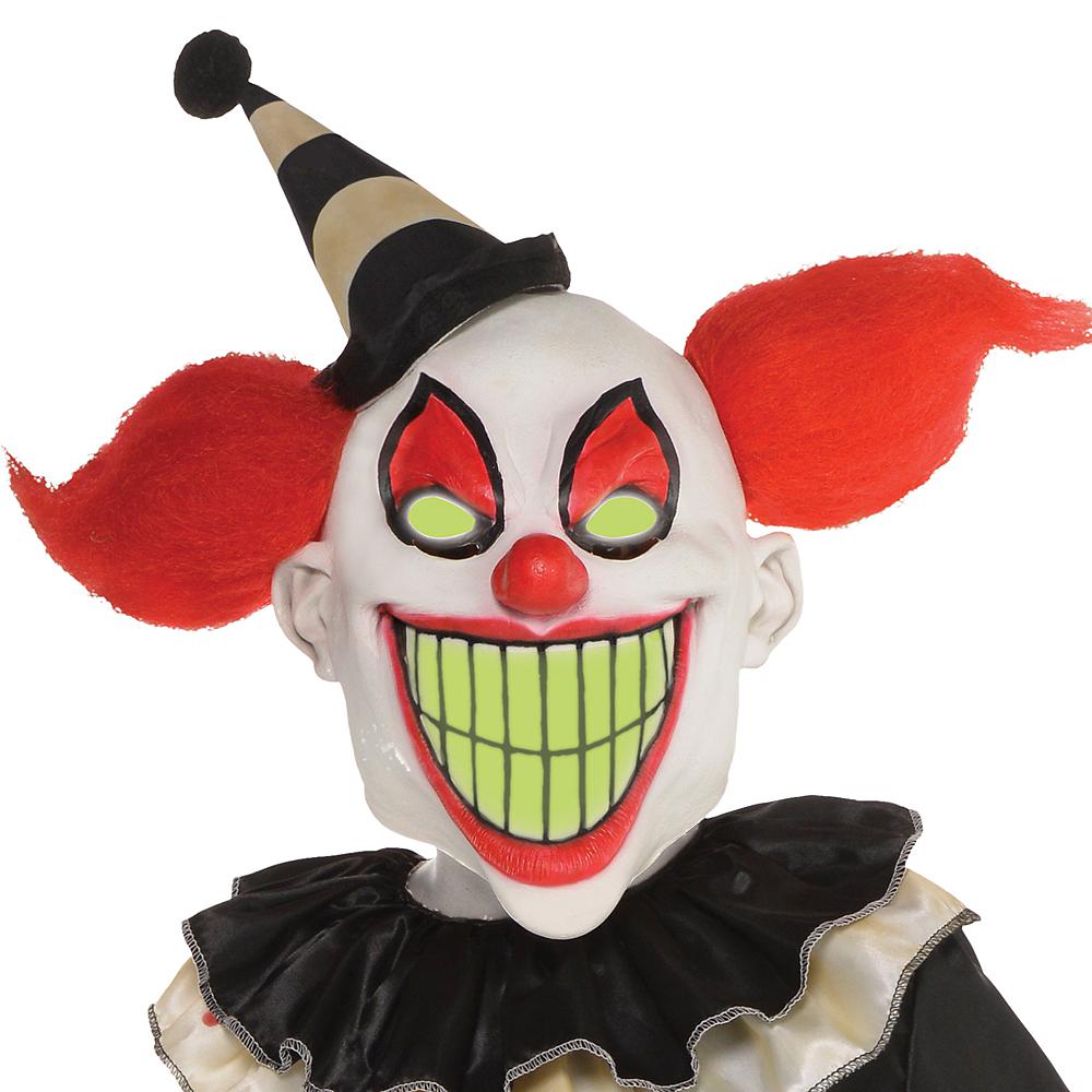Boys Glow-in-the-Dark Carnival Nightmare Clown Costume Image #2