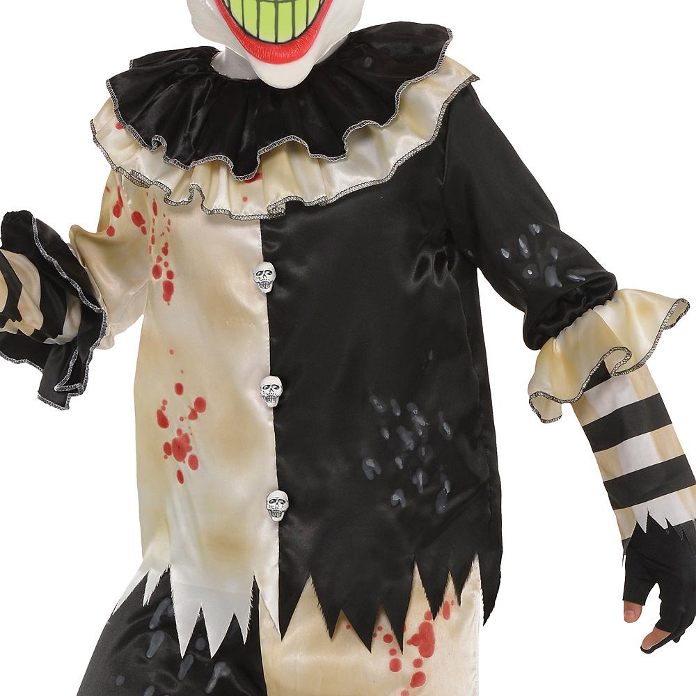 Boys Glow-in-the-Dark Carnival Nightmare Clown Costume Image #3