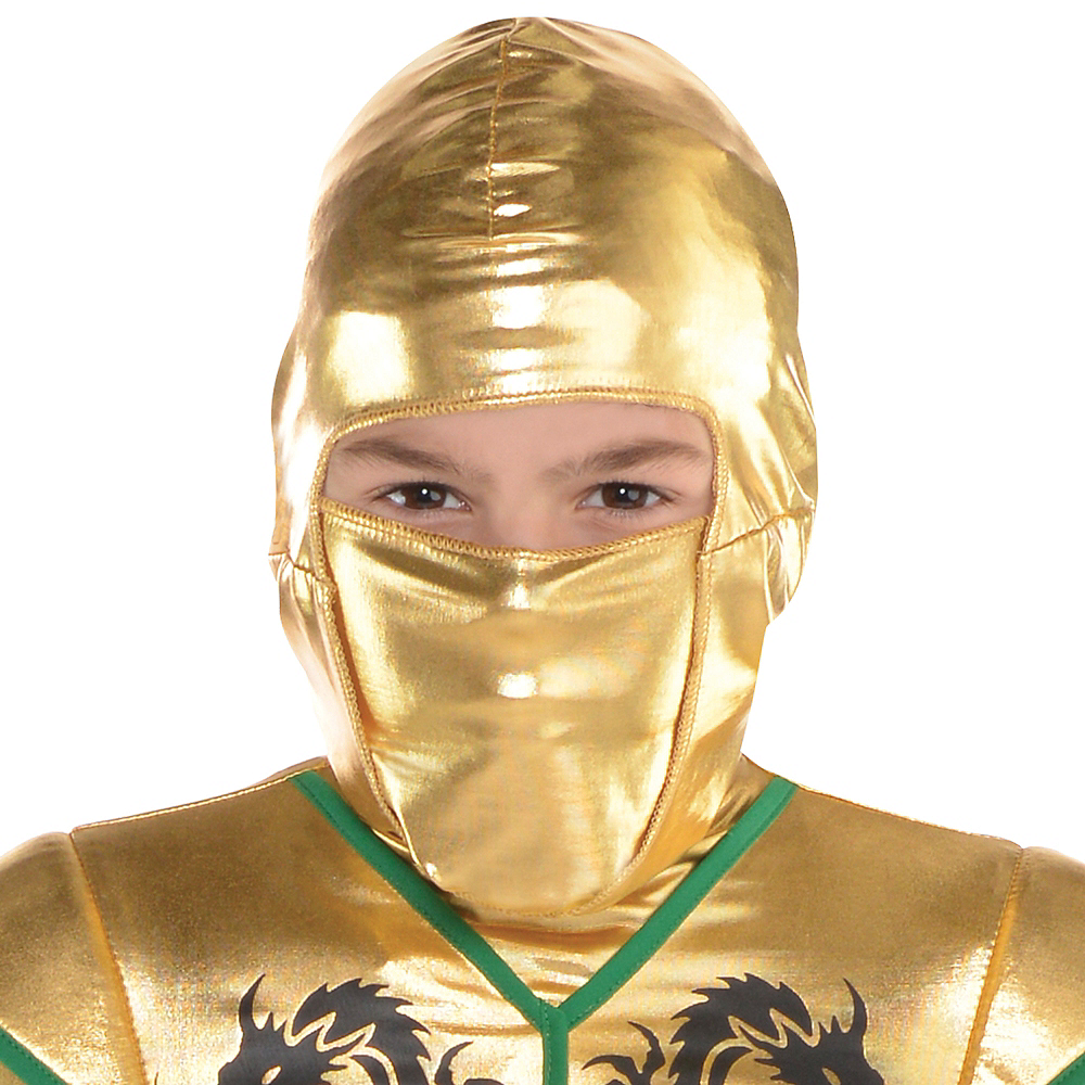 Boys Gold Fighter Ninja Costume Image #2