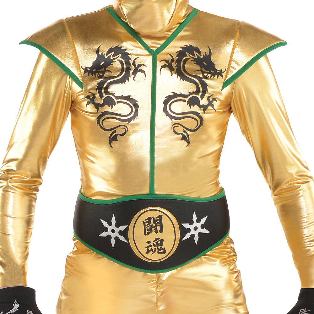 Boys Gold Fighter Ninja Costume Image #3