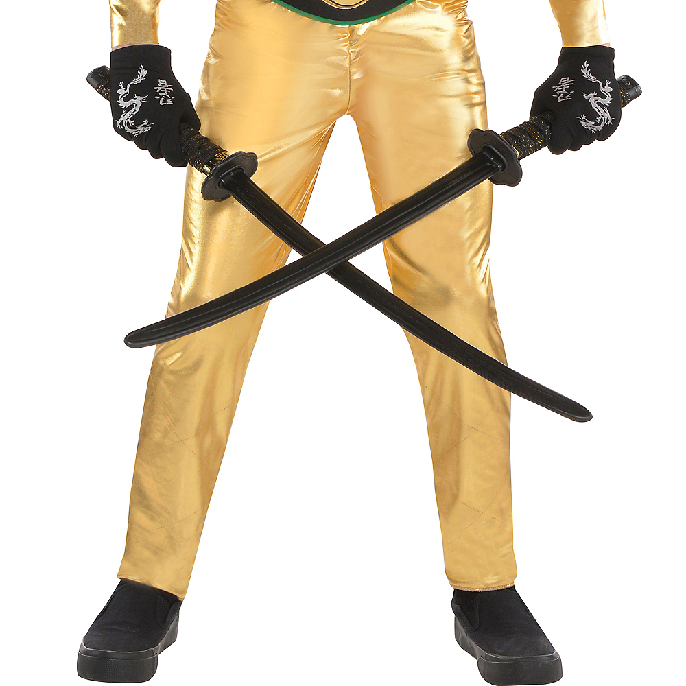 Boys Gold Fighter Ninja Costume Image #4