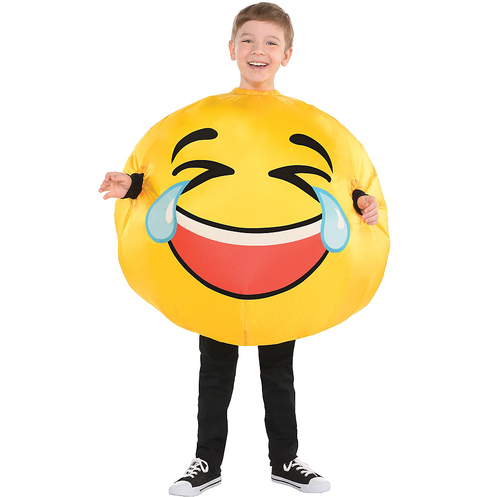 Child Inflatable Laughing Crying Smiley Costume Image #1