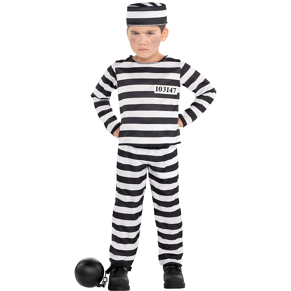 Toddler Boys Mischief Maker Prisoner Costume Image #1