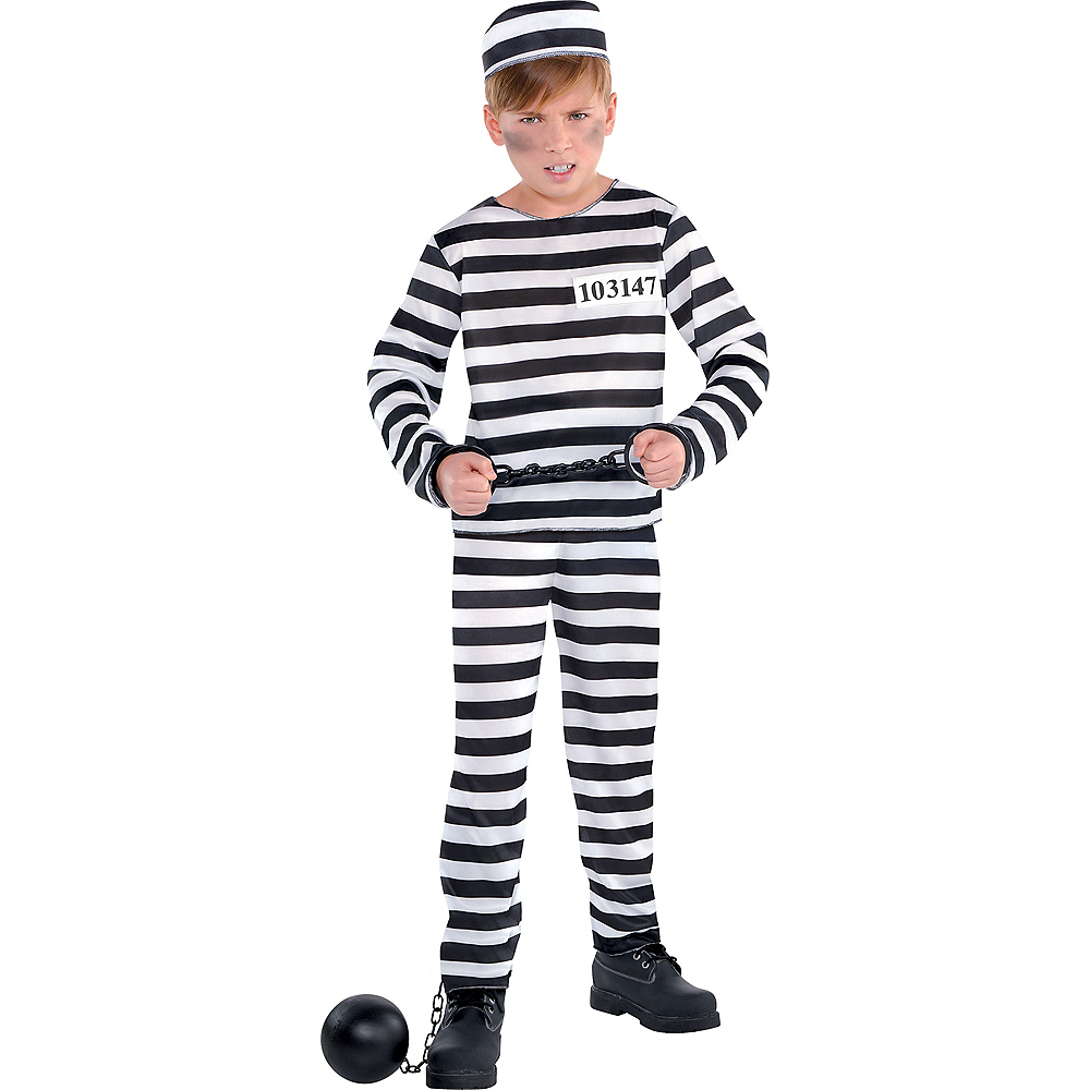 Boys Mischief Maker Prisoner Costume Image #1