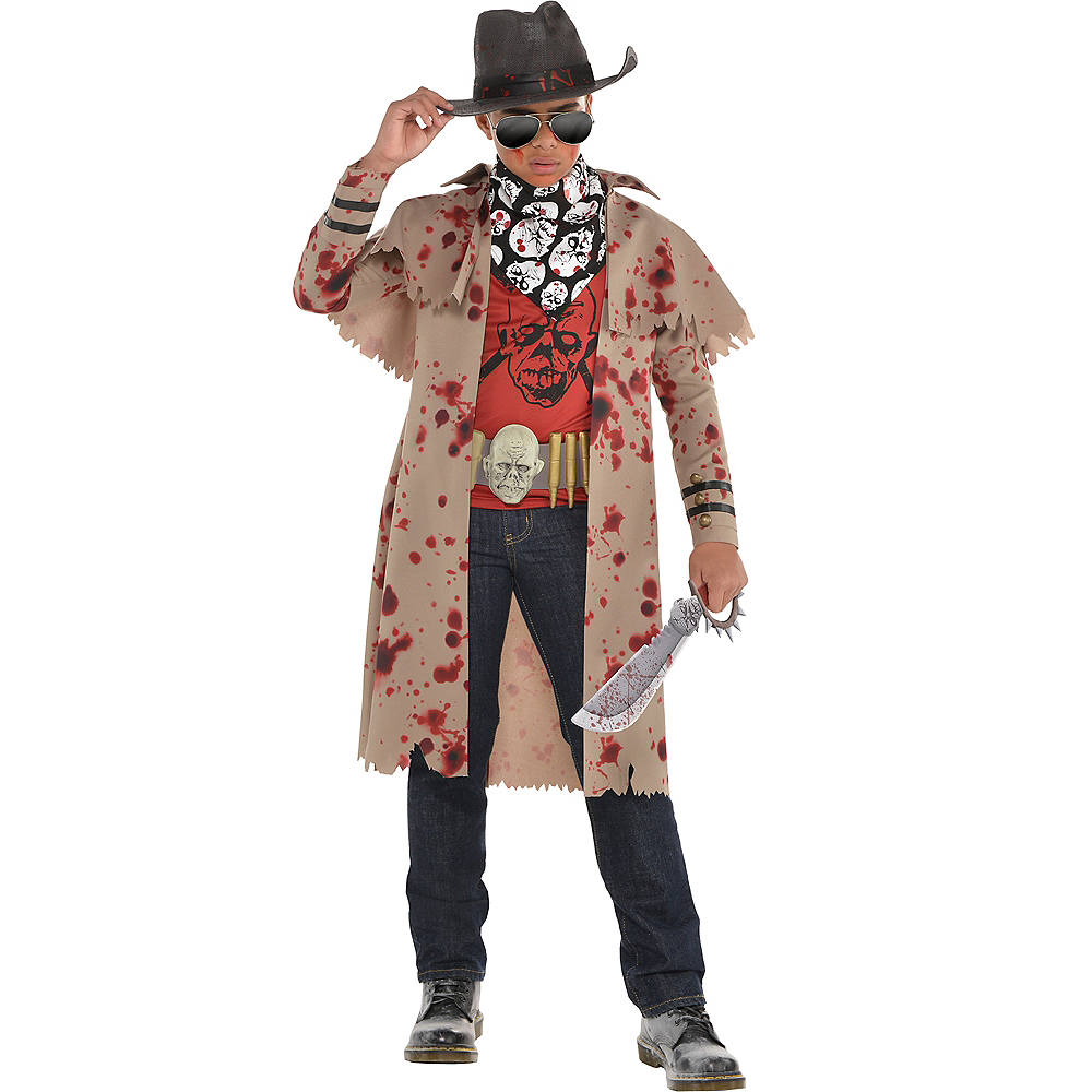 Nav Item for Boys Zombie Slayer Costume Image #1
