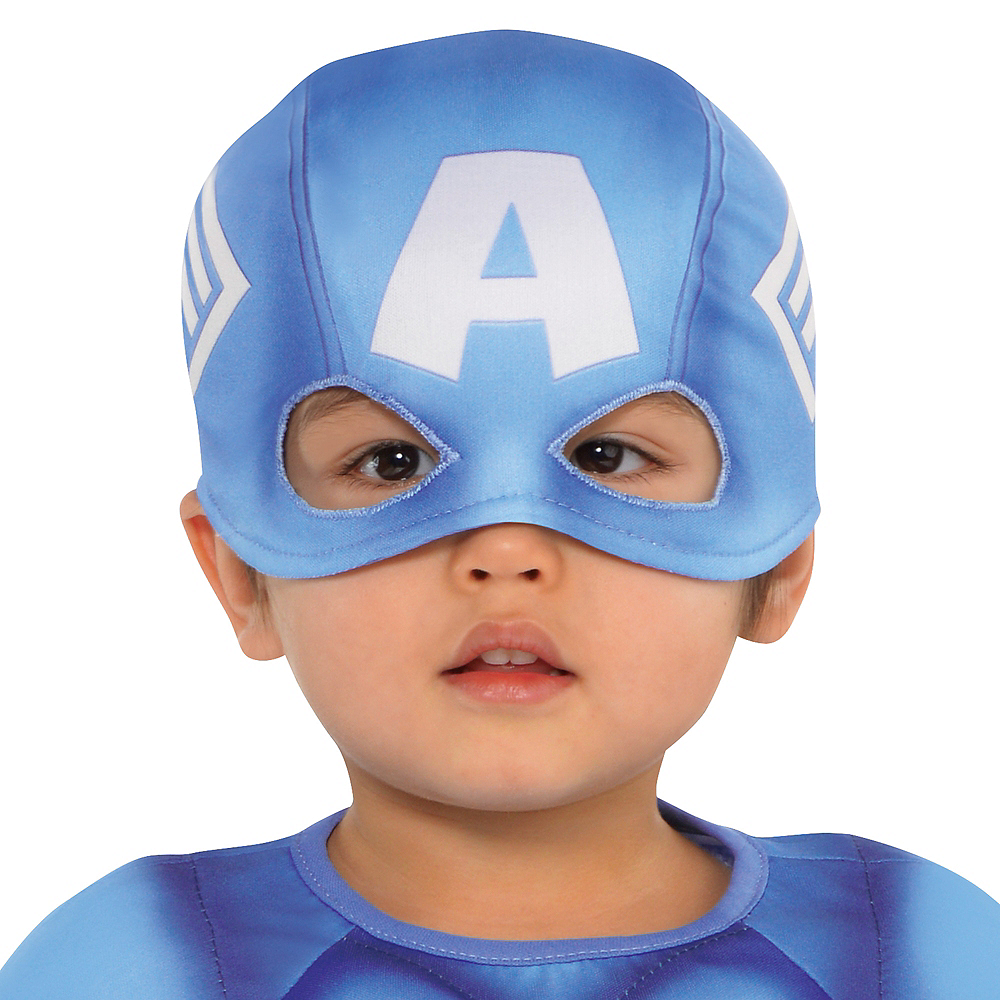 Nav Item for Baby Captain America Muscle Costume Image #2