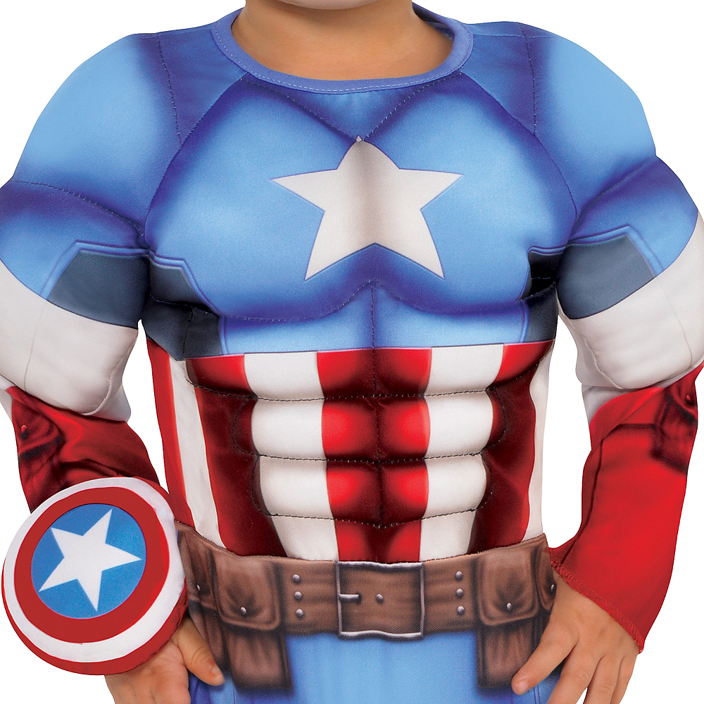 Nav Item for Baby Captain America Muscle Costume Image #3