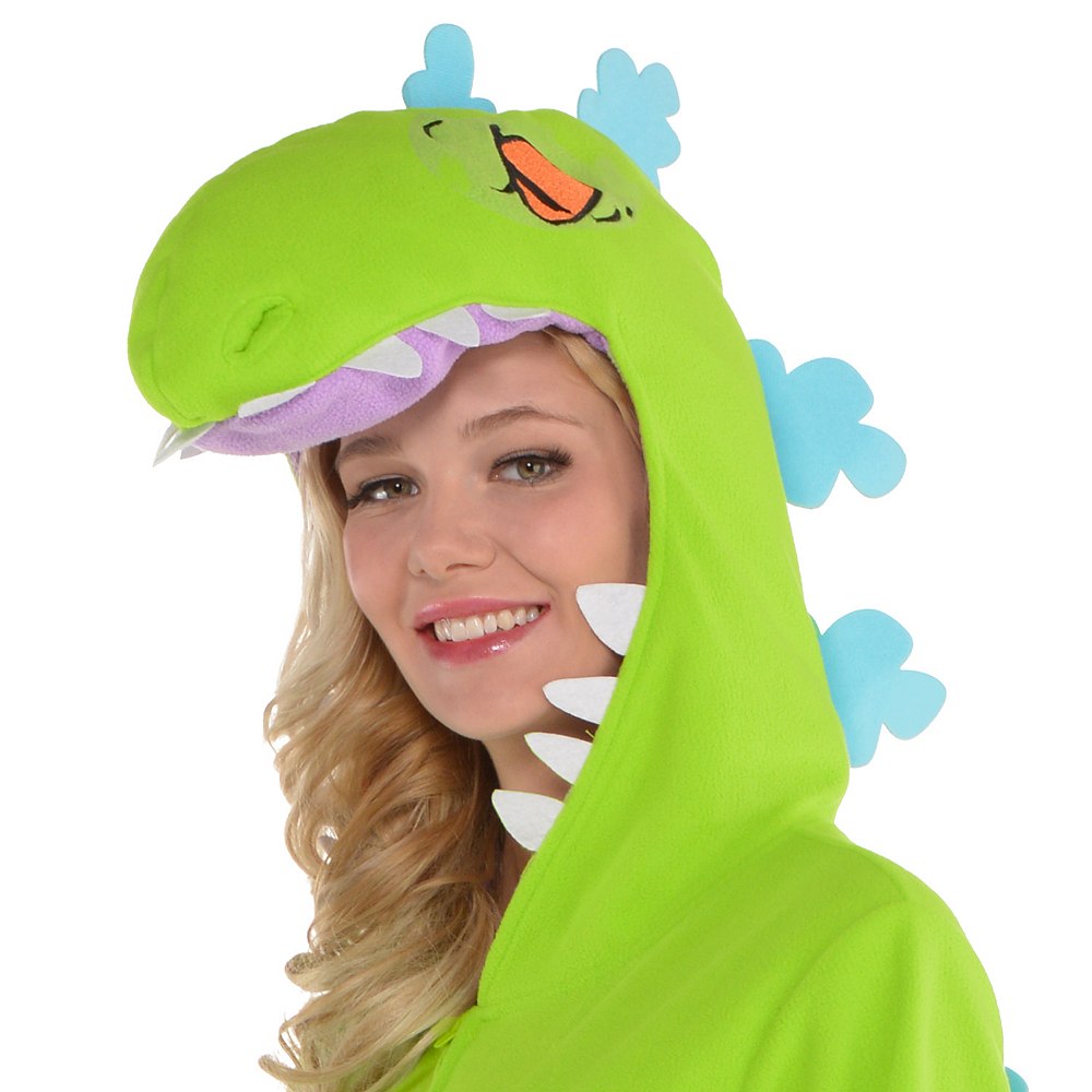 Nav Item for Adult Zipster Reptar One Piece Costume - Rugrats Image #2
