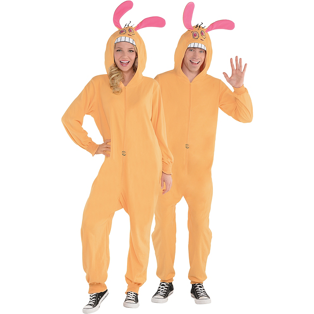 Adult Zipster Ren One Piece Costume - The Ren & Stimpy Show Image #1