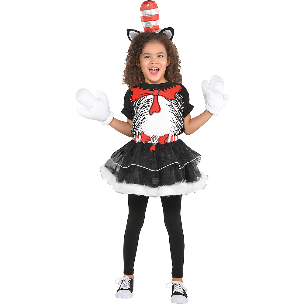Girls Cat in the Hat Costume - Dr. Seuss Image #1