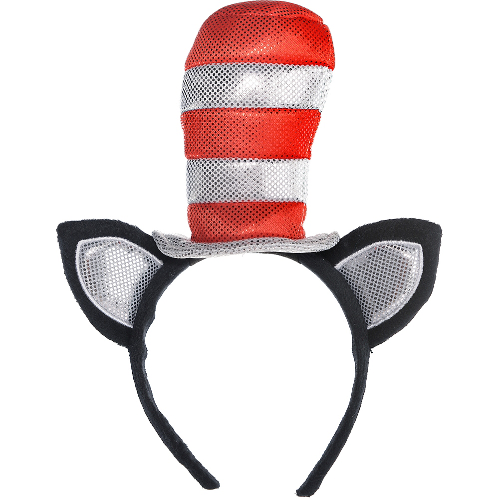 Adult Cat in the Hat Long-Sleeve Costume - Dr. Seuss Image #3