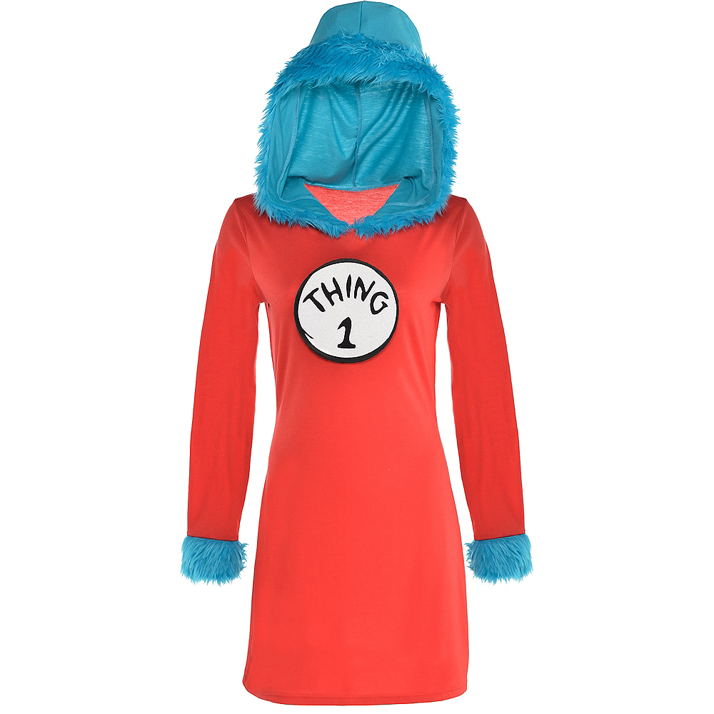 Adult Thing 1 & Thing 2 Dress Costume - Dr. Seuss Image #2