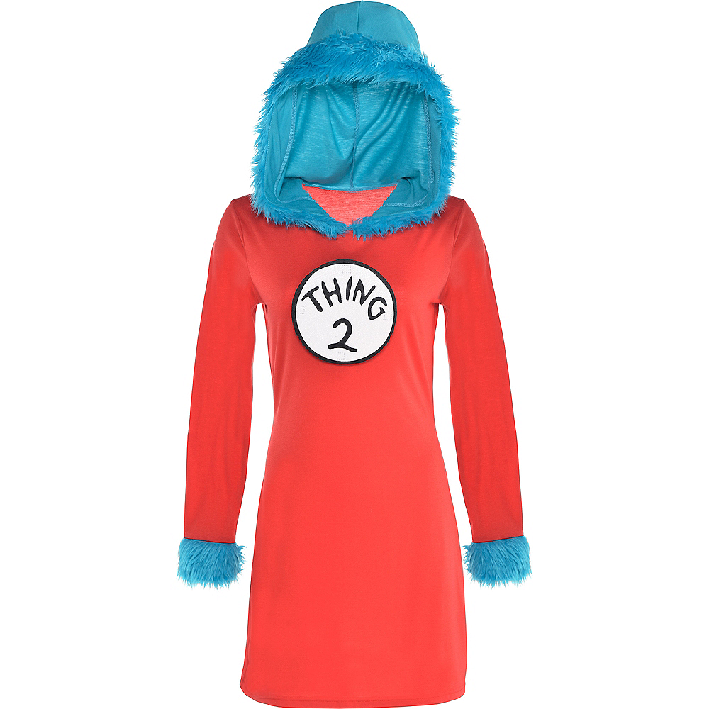 Adult Thing 1 & Thing 2 Dress Costume - Dr. Seuss Image #4