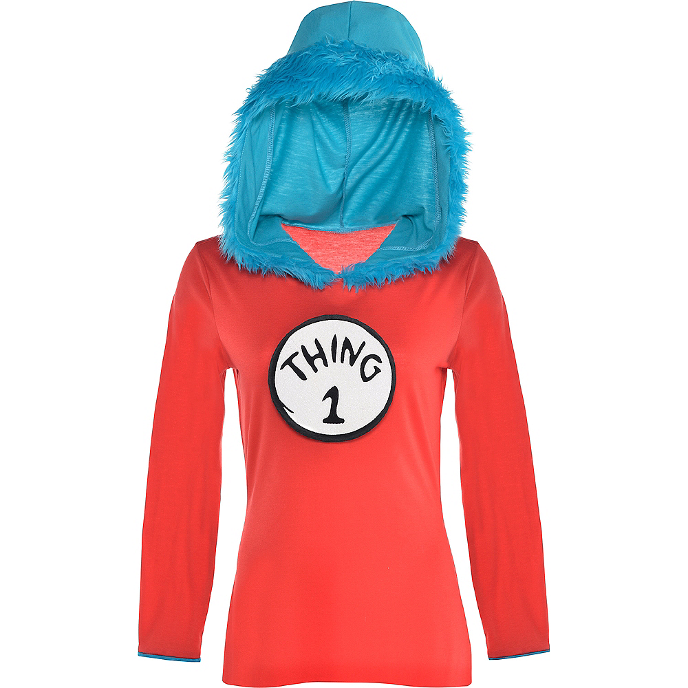 Adult Thing 1 & Thing 2 Long-Sleeve Costume - Dr. Seuss Image #4