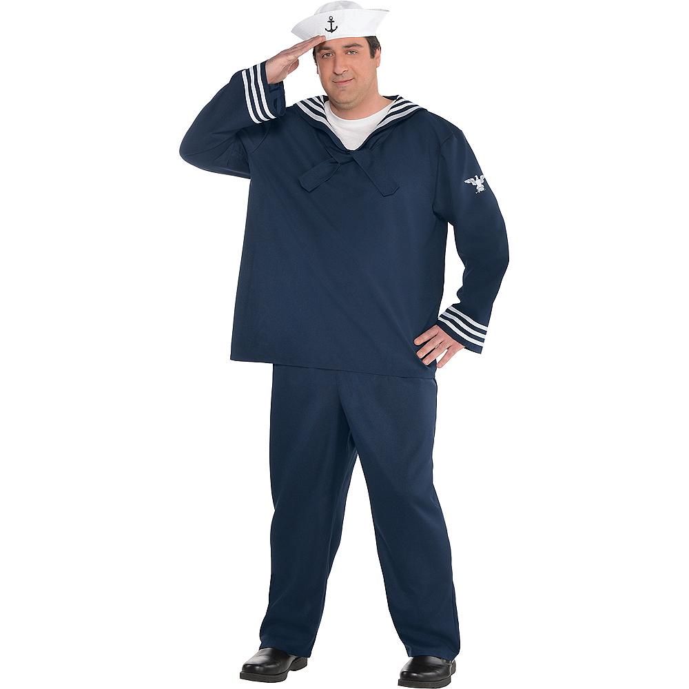Adult Out to Sea Sailor Costume Plus Size Image #1