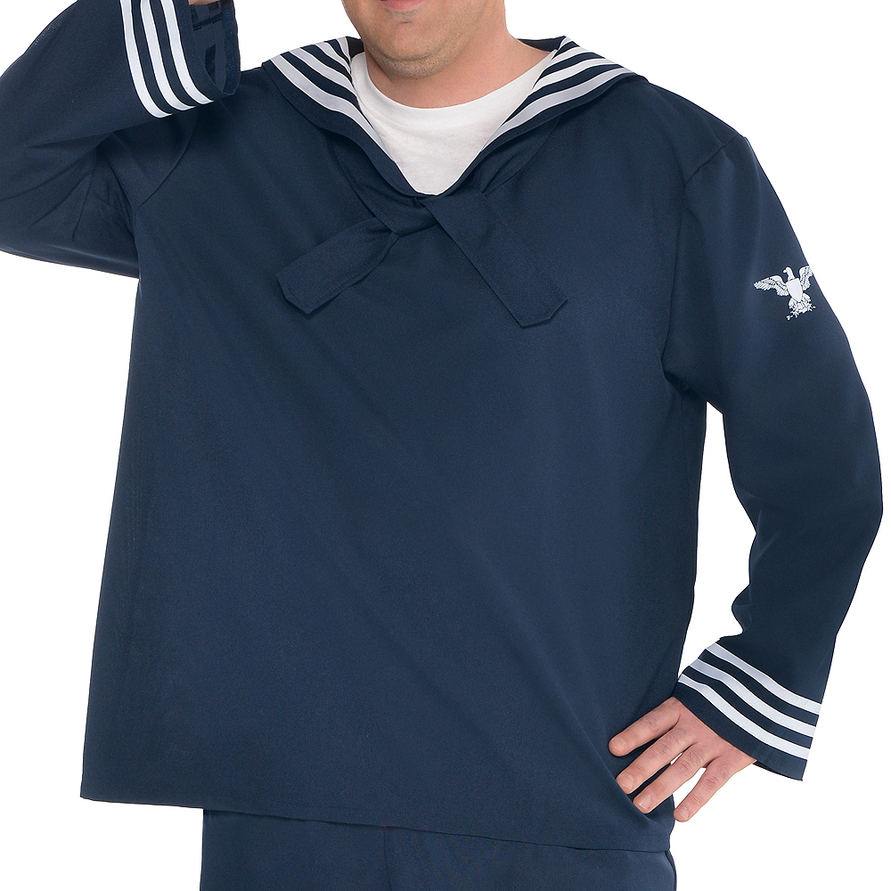 Nav Item for Adult Out to Sea Sailor Costume Plus Size Image #3