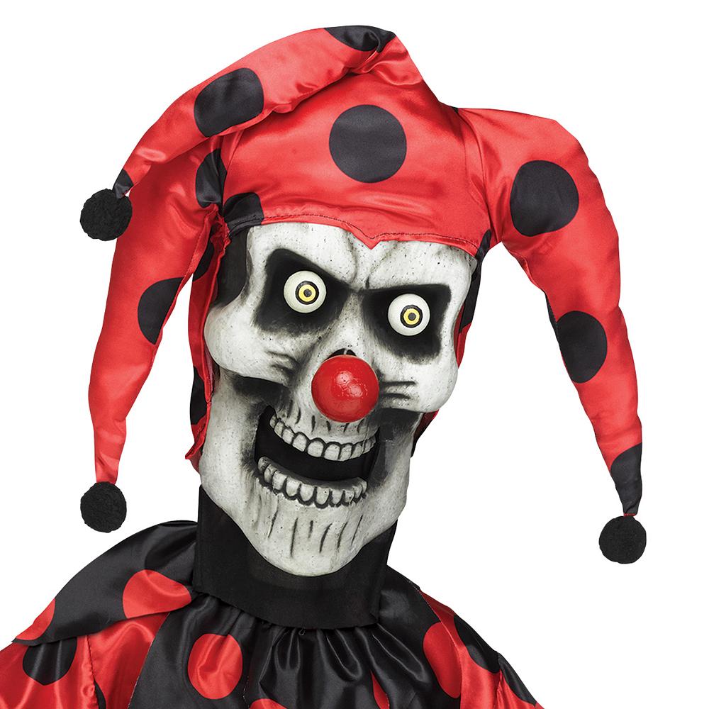 Boys Evil Skeleton Jester Costume Image #2