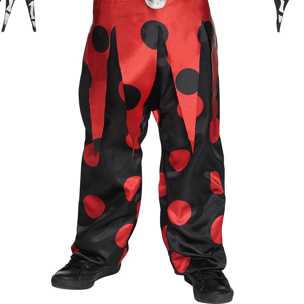 Boys Evil Skeleton Jester Costume Image #4