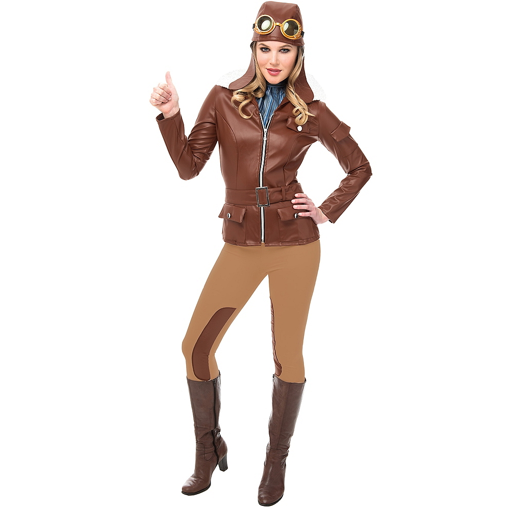 adult lady lindy aviator costume accessory kit