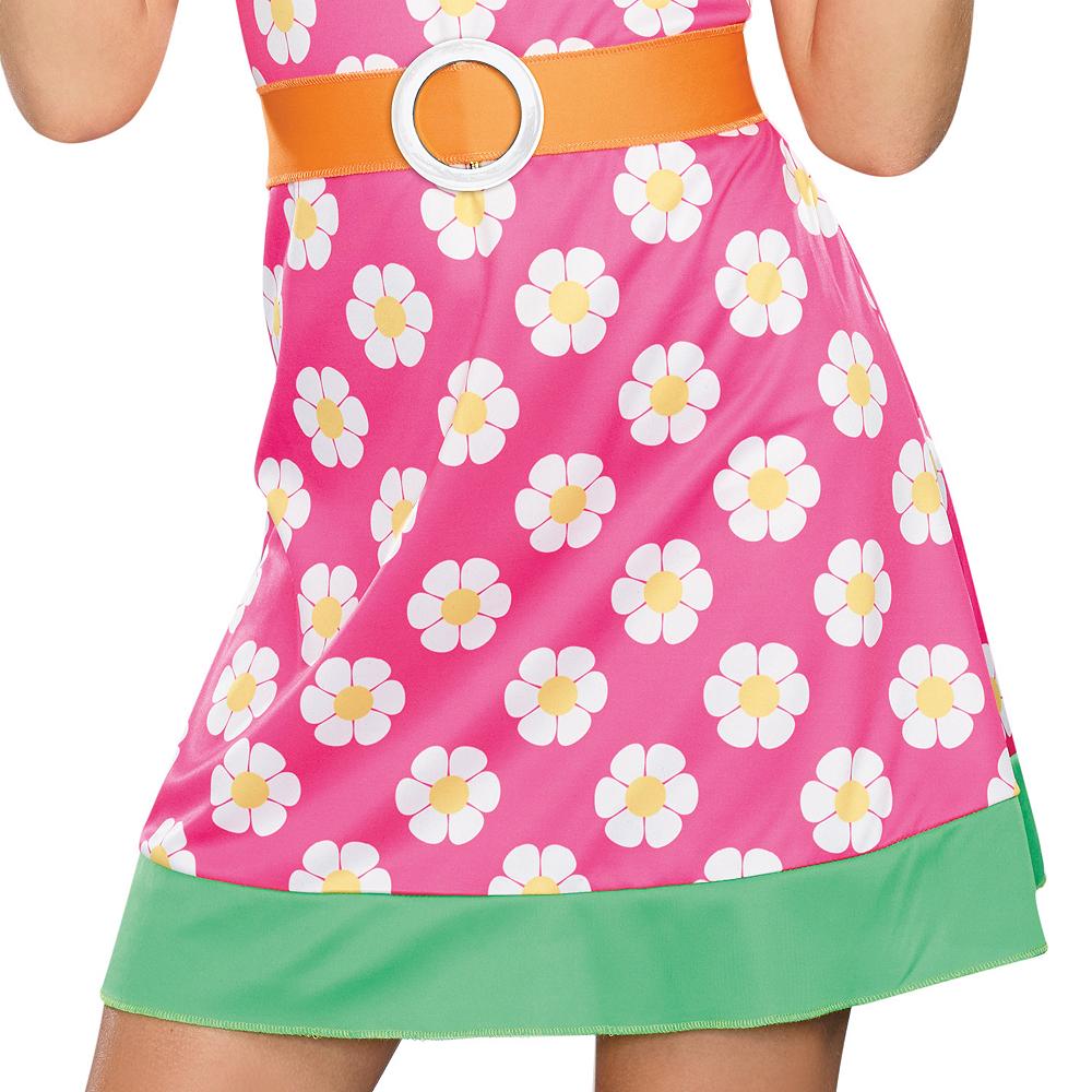 Girls Girly A Go-Go Flower Power Costume Image #4