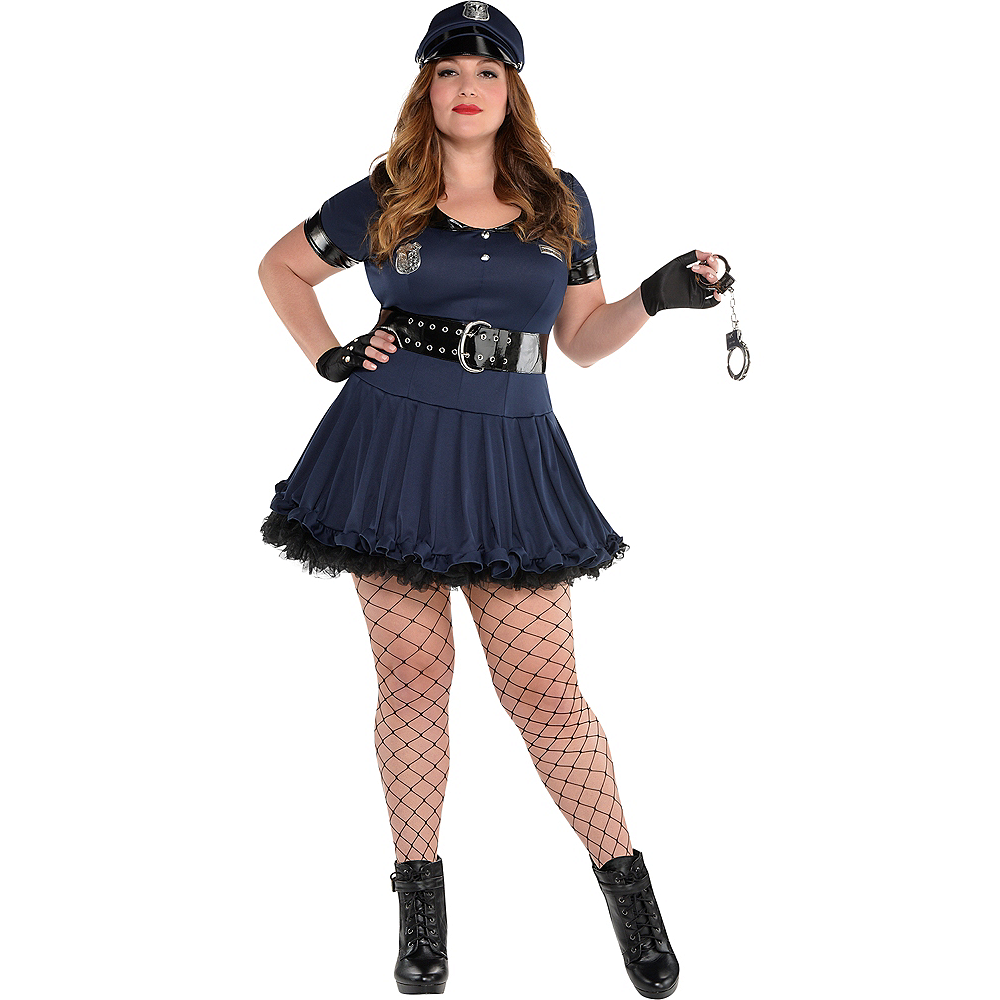 Adult Locked N Loaded Cop Costume Plus Size Image #1
