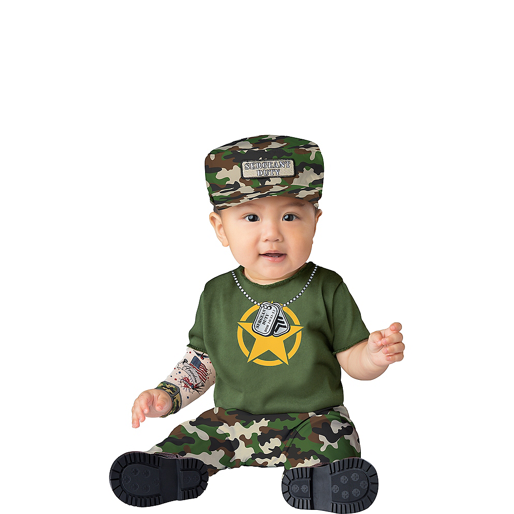Baby Sergeant Duty Army Costume Image #1
