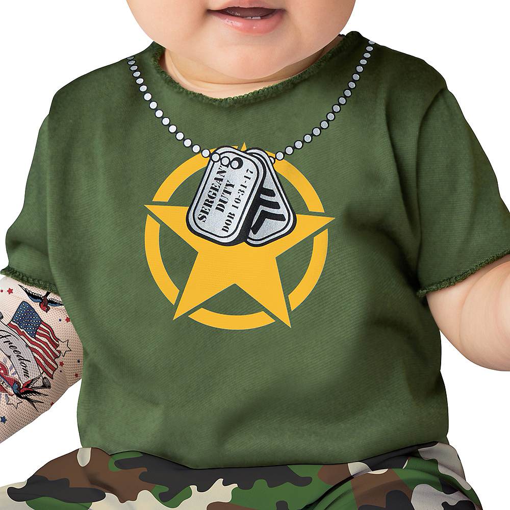 Baby Sergeant Duty Army Costume Image #3