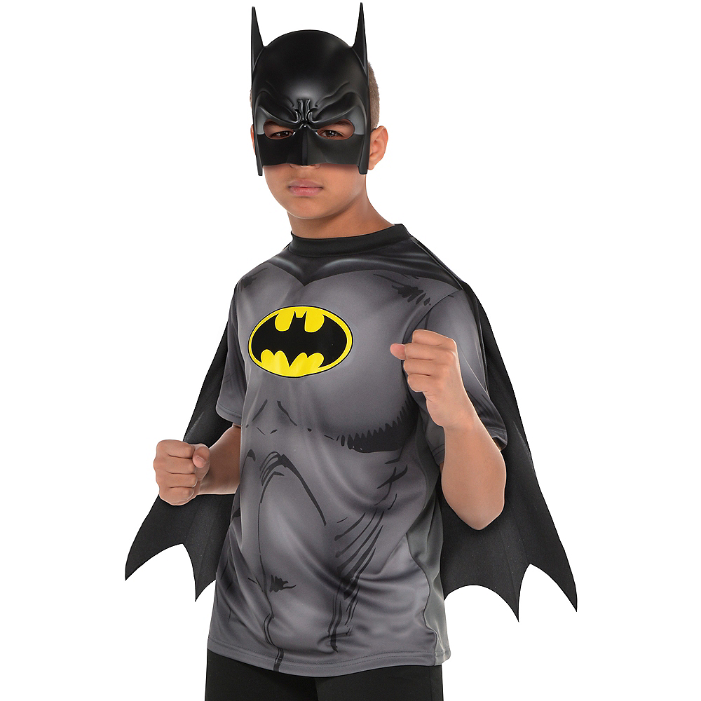 Nav Item for Child Batman T-Shirt with Cape Image #1