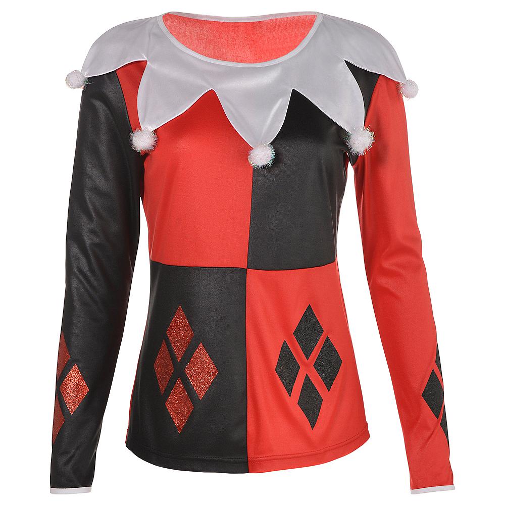Adult Harley Quinn Long-Sleeve Shirt Image #1