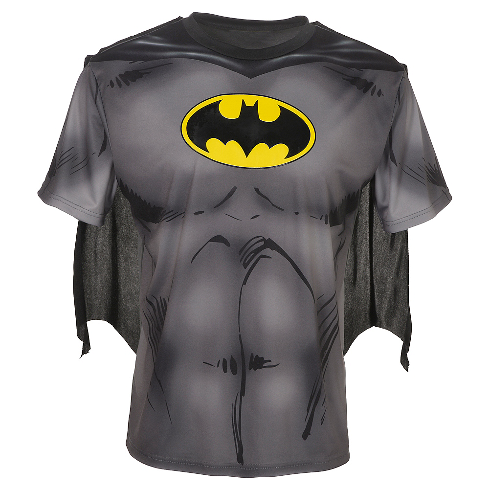 Nav Item for Adult Batman T-Shirt with Cape Image #1