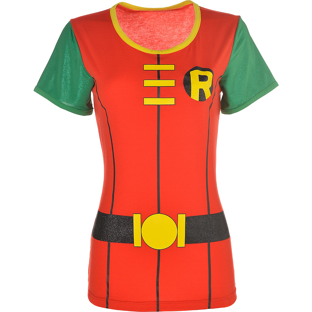 Nav Item for Adult Robin T-Shirt - Batman Image #2