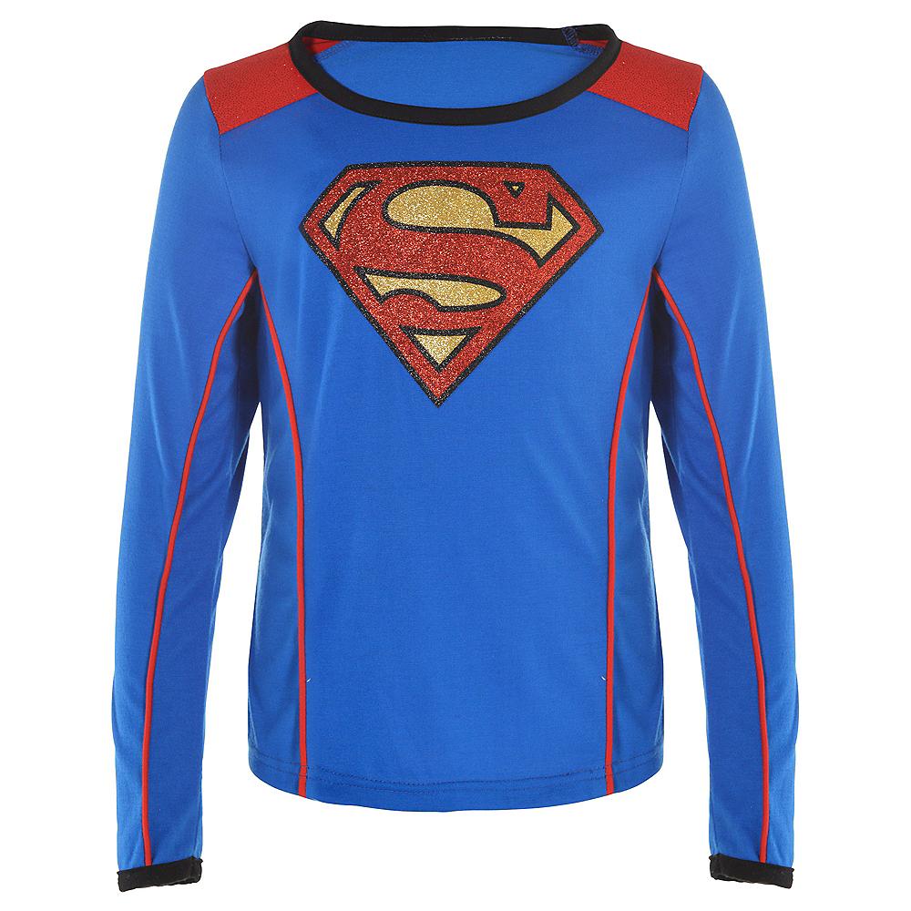 Child Supergirl Long-Sleeve Shirt - Superman Image #1