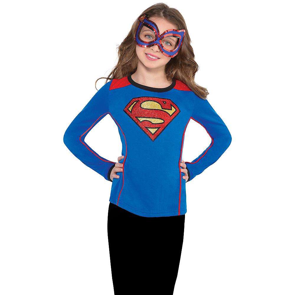 Child Supergirl Long-Sleeve Shirt - Superman Image #2
