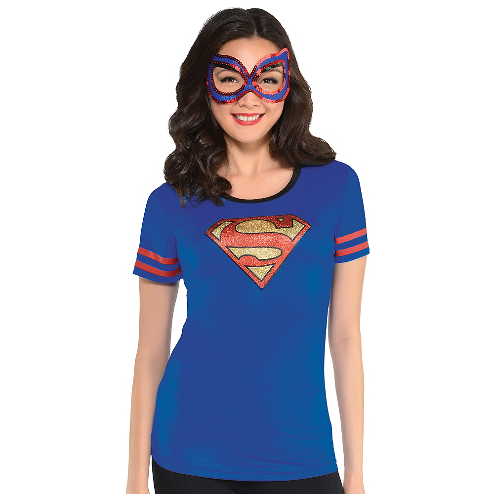 Adult Supergirl T-Shirt - Superman Image #1