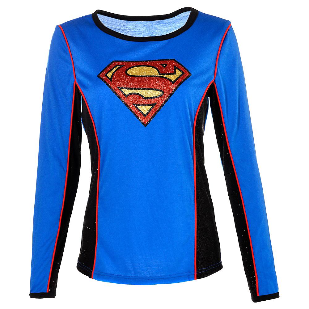 Adult Supergirl Long-Sleeve Shirt - Superman Image #1