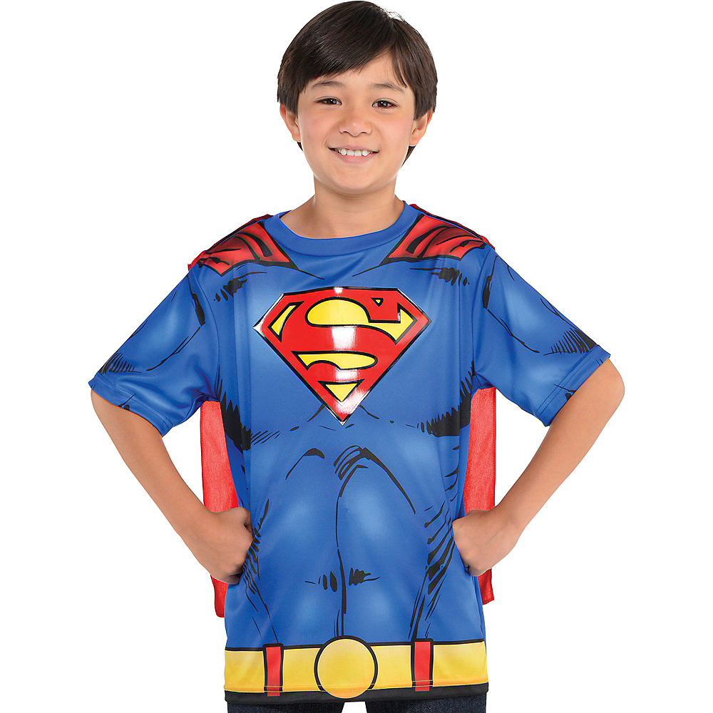 Child Superman T-Shirt with Cape Image #1
