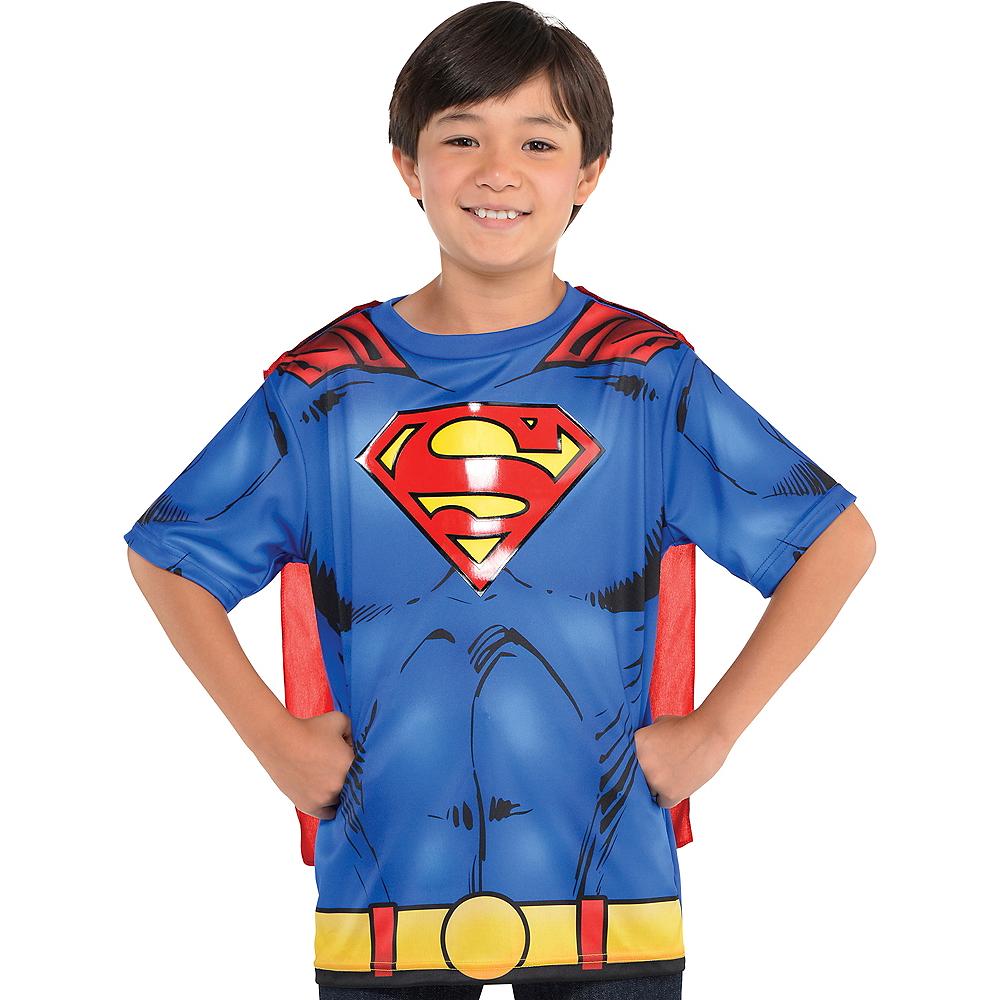 Superman Toddler/'s Cape Tee Shirt Blue